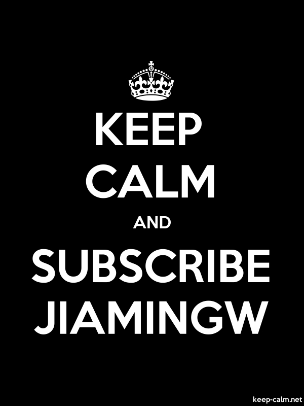 KEEP CALM AND SUBSCRIBE JIAMINGW - white/black - Default (600x800)