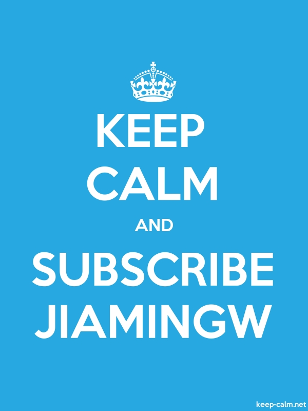 KEEP CALM AND SUBSCRIBE JIAMINGW - white/blue - Default (600x800)