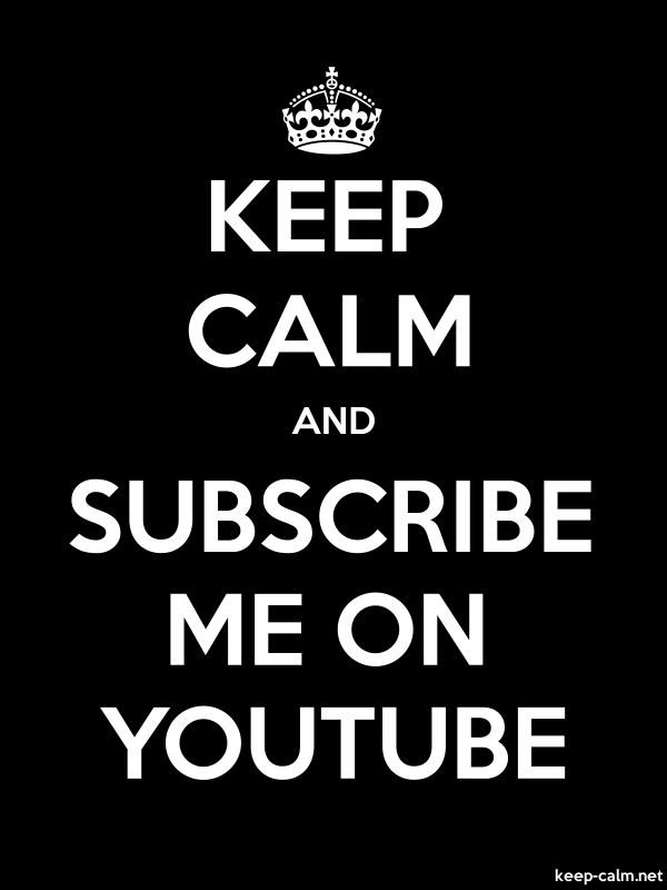 KEEP CALM AND SUBSCRIBE ME ON YOUTUBE - white/black - Default (600x800)