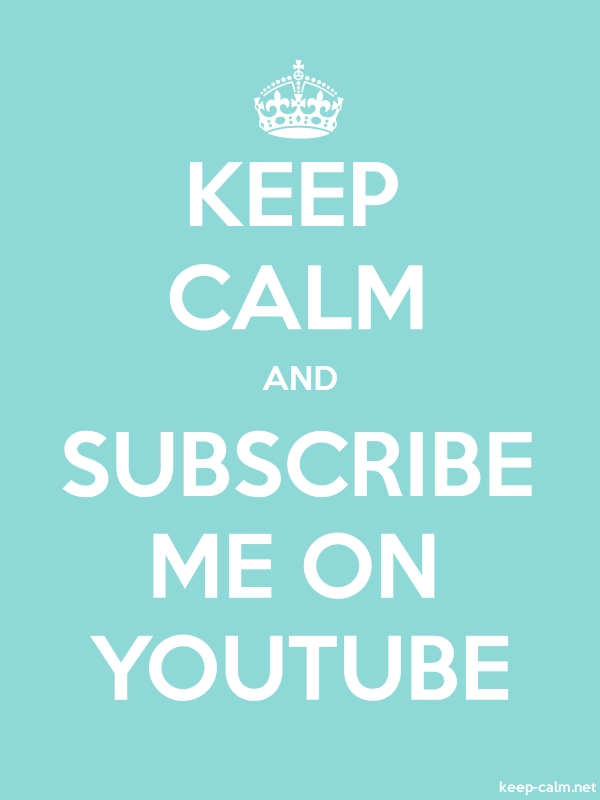 KEEP CALM AND SUBSCRIBE ME ON YOUTUBE - white/lightblue - Default (600x800)