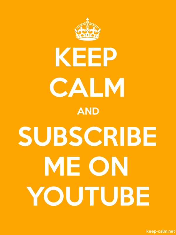 KEEP CALM AND SUBSCRIBE ME ON YOUTUBE - white/orange - Default (600x800)