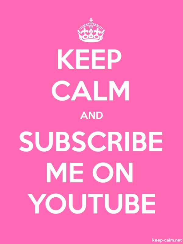 KEEP CALM AND SUBSCRIBE ME ON YOUTUBE - white/pink - Default (600x800)