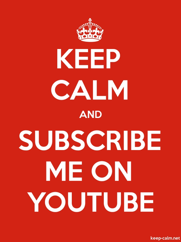 KEEP CALM AND SUBSCRIBE ME ON YOUTUBE - white/red - Default (600x800)