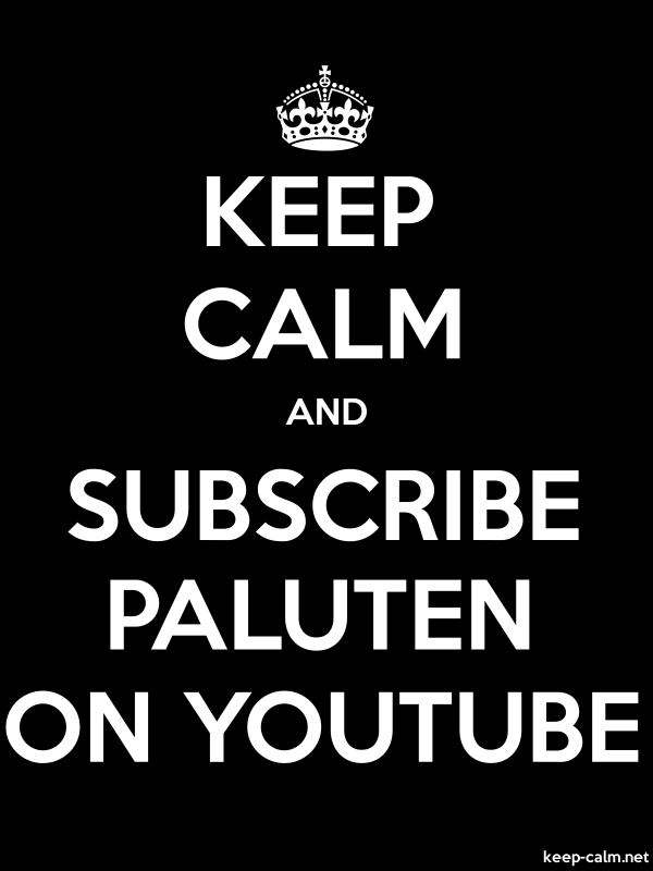 KEEP CALM AND SUBSCRIBE PALUTEN ON YOUTUBE - white/black - Default (600x800)