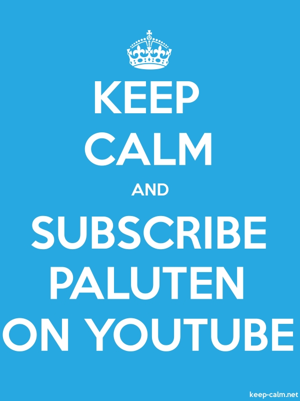 KEEP CALM AND SUBSCRIBE PALUTEN ON YOUTUBE - white/blue - Default (600x800)