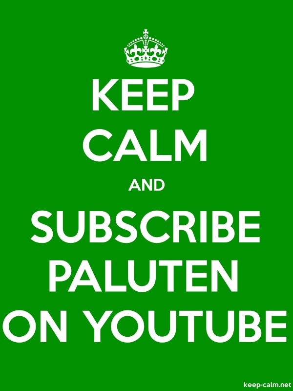 KEEP CALM AND SUBSCRIBE PALUTEN ON YOUTUBE - white/green - Default (600x800)
