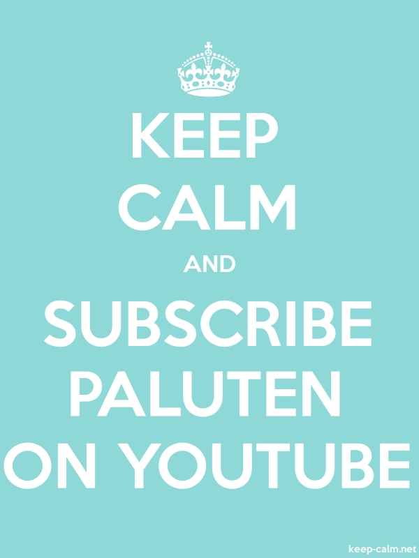 KEEP CALM AND SUBSCRIBE PALUTEN ON YOUTUBE - white/lightblue - Default (600x800)