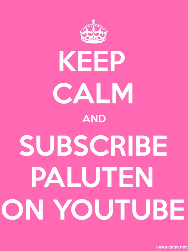 KEEP CALM AND SUBSCRIBE PALUTEN ON YOUTUBE - white/pink - Default (600x800)