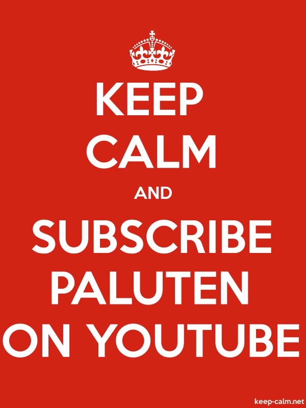 KEEP CALM AND SUBSCRIBE PALUTEN ON YOUTUBE - white/red - Default (600x800)