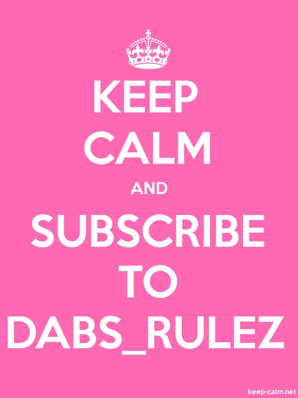 KEEP CALM AND SUBSCRIBE TO DABS_RULEZ - white/pink - Default (600x800)