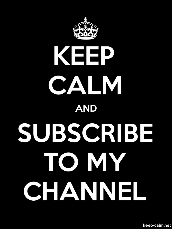 KEEP CALM AND SUBSCRIBE TO MY CHANNEL - white/black - Default (600x800)