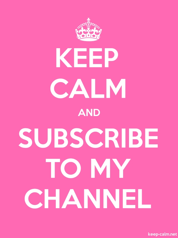 KEEP CALM AND SUBSCRIBE TO MY CHANNEL - white/pink - Default (600x800)