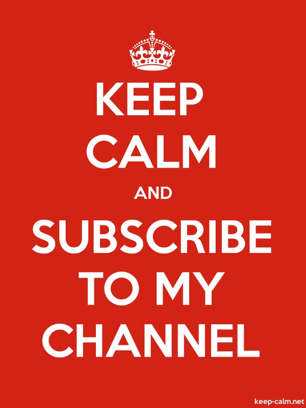 KEEP CALM AND SUBSCRIBE TO MY CHANNEL - white/red - Default (600x800)
