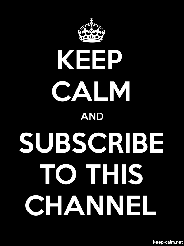 KEEP CALM AND SUBSCRIBE TO THIS CHANNEL - white/black - Default (600x800)