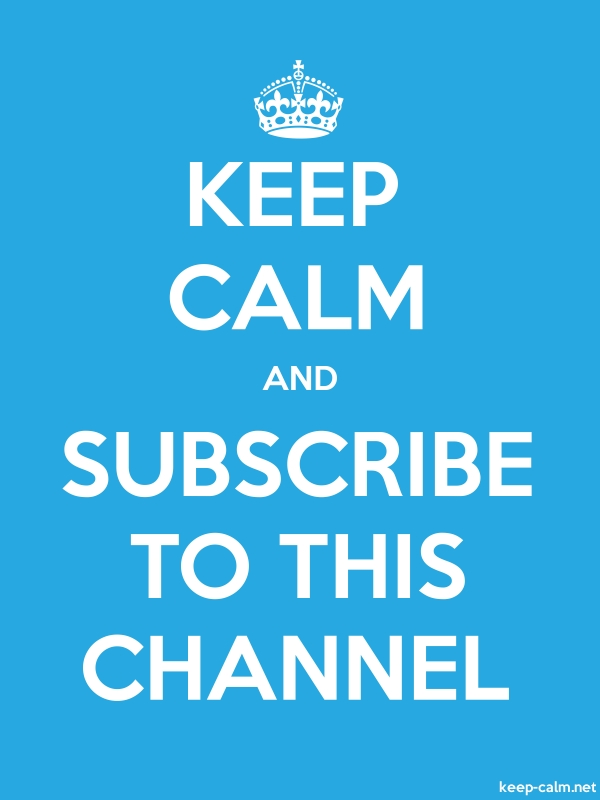 KEEP CALM AND SUBSCRIBE TO THIS CHANNEL - white/blue - Default (600x800)