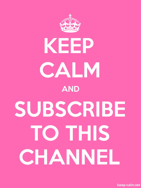 KEEP CALM AND SUBSCRIBE TO THIS CHANNEL - white/pink - Default (600x800)