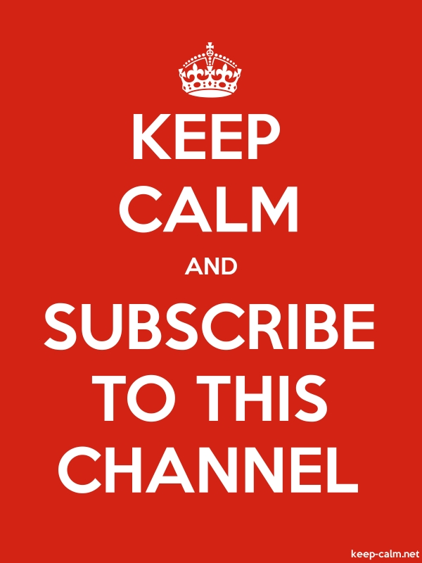 KEEP CALM AND SUBSCRIBE TO THIS CHANNEL - white/red - Default (600x800)
