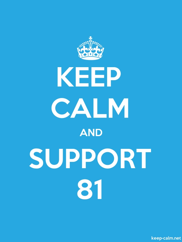 KEEP CALM AND SUPPORT 81 - white/blue - Default (600x800)