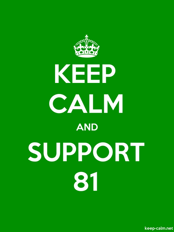 KEEP CALM AND SUPPORT 81 - white/green - Default (600x800)