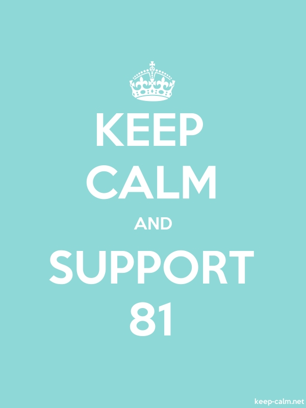 KEEP CALM AND SUPPORT 81 - white/lightblue - Default (600x800)
