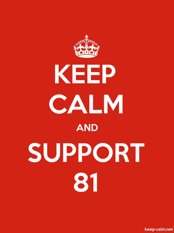 KEEP CALM AND SUPPORT 81 - white/red - Default (600x800)