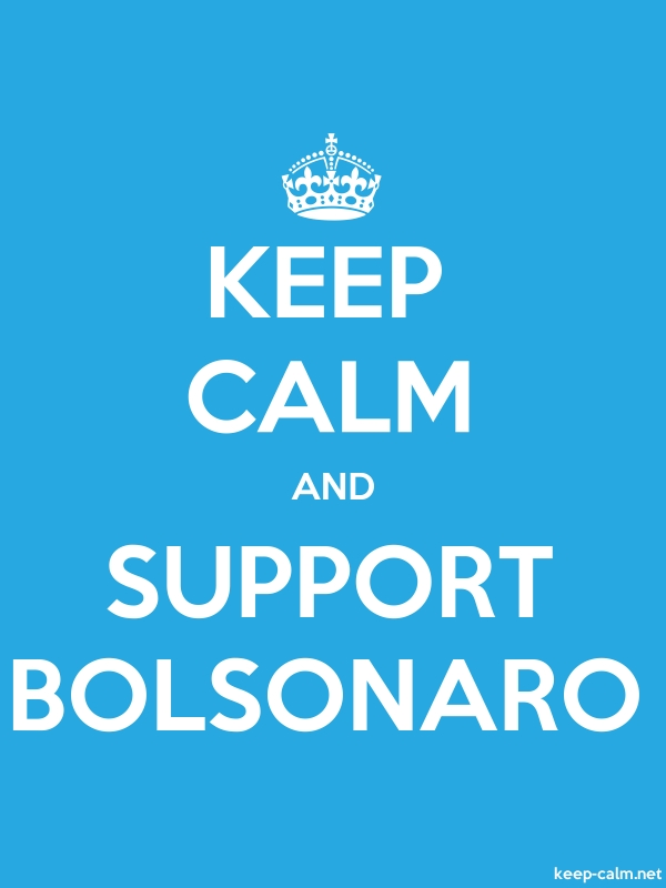 KEEP CALM AND SUPPORT BOLSONARO - white/blue - Default (600x800)