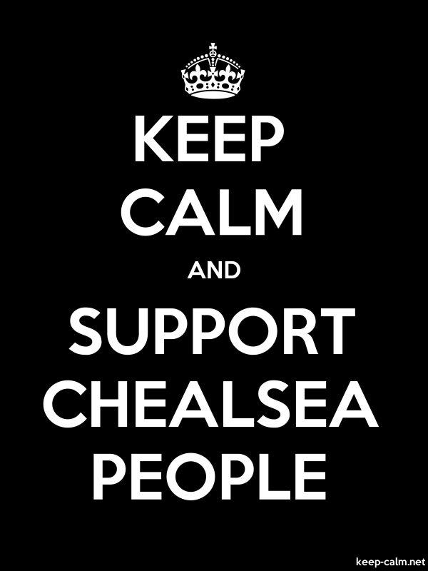 KEEP CALM AND SUPPORT CHEALSEA PEOPLE - white/black - Default (600x800)