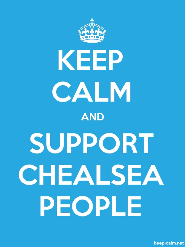 KEEP CALM AND SUPPORT CHEALSEA PEOPLE - white/blue - Default (600x800)