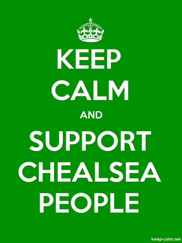 KEEP CALM AND SUPPORT CHEALSEA PEOPLE - white/green - Default (600x800)