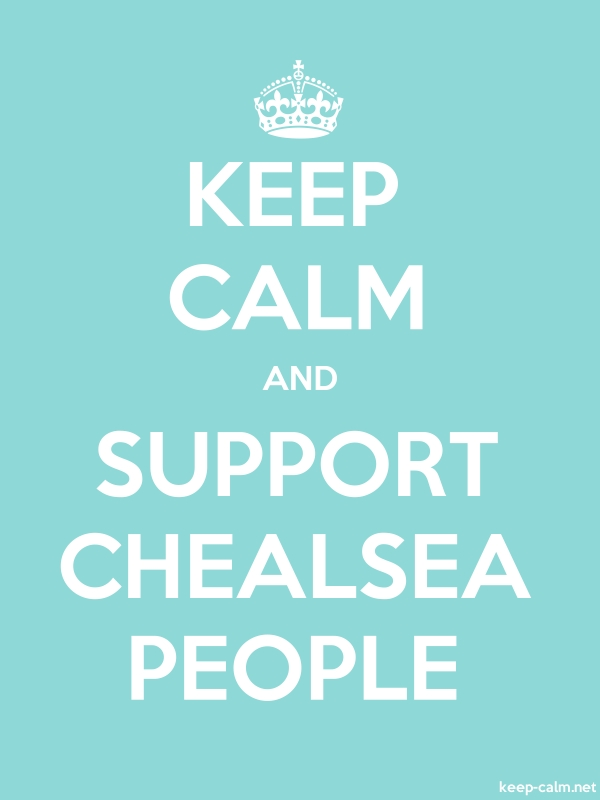 KEEP CALM AND SUPPORT CHEALSEA PEOPLE - white/lightblue - Default (600x800)
