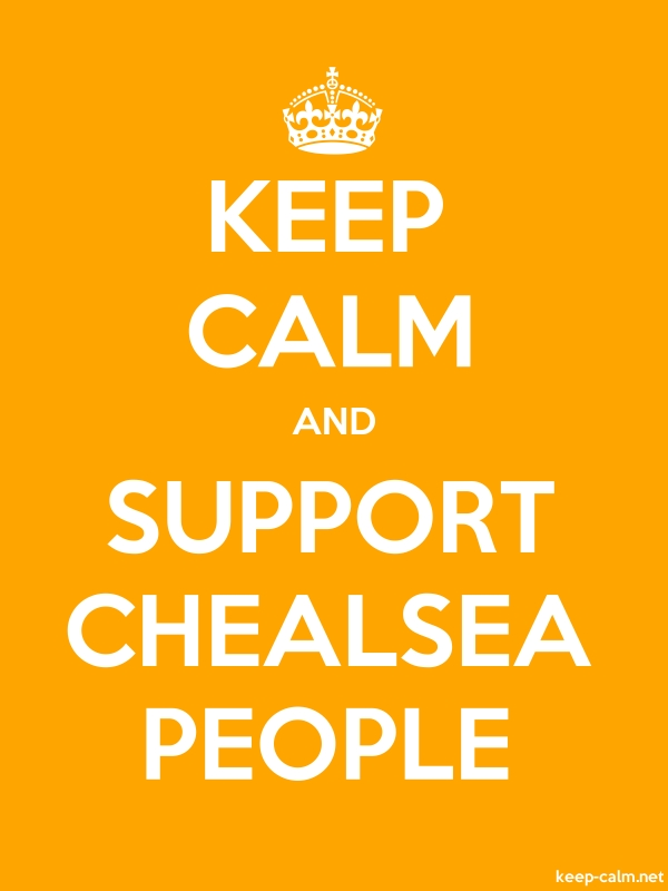 KEEP CALM AND SUPPORT CHEALSEA PEOPLE - white/orange - Default (600x800)