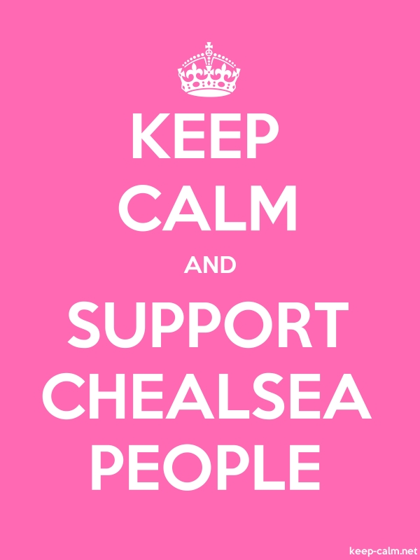 KEEP CALM AND SUPPORT CHEALSEA PEOPLE - white/pink - Default (600x800)