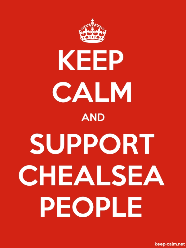 KEEP CALM AND SUPPORT CHEALSEA PEOPLE - white/red - Default (600x800)