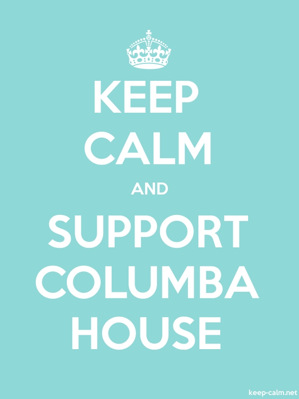 KEEP CALM AND SUPPORT COLUMBA HOUSE - white/lightblue - Default (600x800)