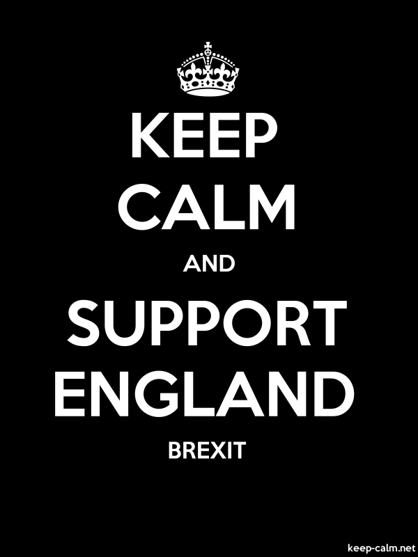 KEEP CALM AND SUPPORT ENGLAND BREXIT - white/black - Default (600x800)