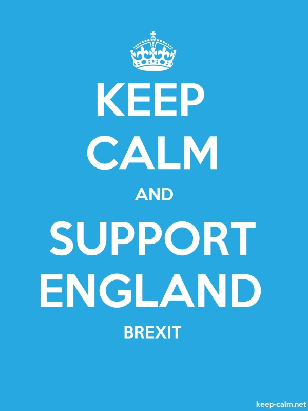 KEEP CALM AND SUPPORT ENGLAND BREXIT - white/blue - Default (600x800)