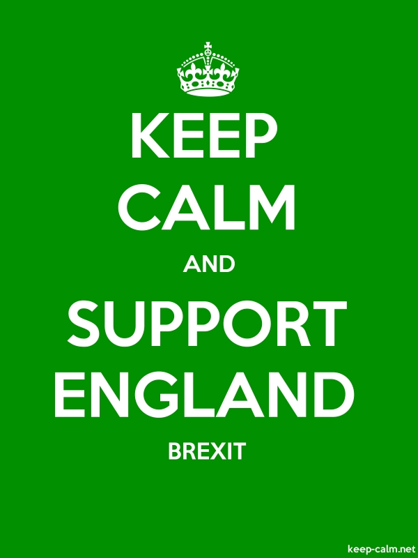 KEEP CALM AND SUPPORT ENGLAND BREXIT - white/green - Default (600x800)
