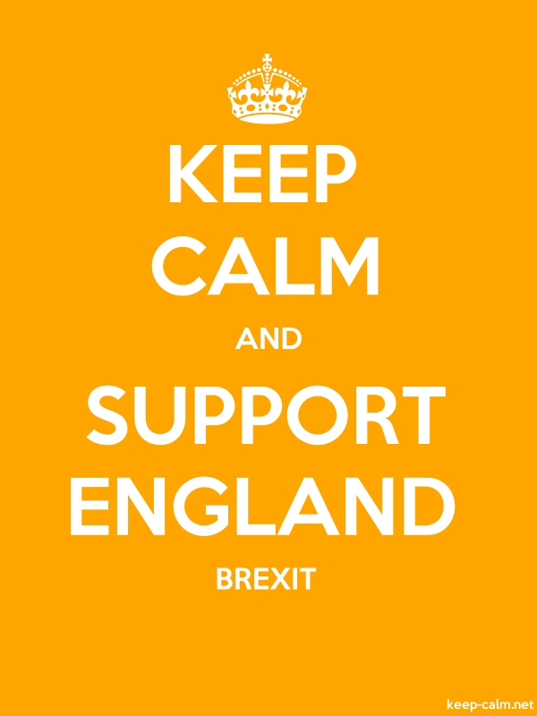 KEEP CALM AND SUPPORT ENGLAND BREXIT - white/orange - Default (600x800)
