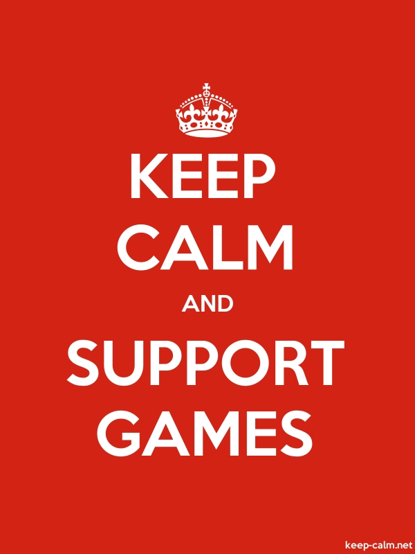 KEEP CALM AND SUPPORT GAMES - white/red - Default (600x800)