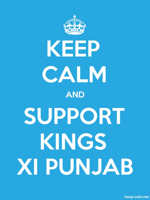 KEEP CALM AND SUPPORT KINGS XI PUNJAB - white/blue - Default (600x800)