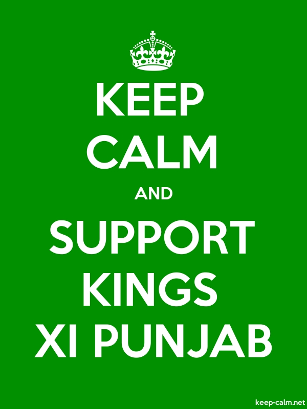 KEEP CALM AND SUPPORT KINGS XI PUNJAB - white/green - Default (600x800)