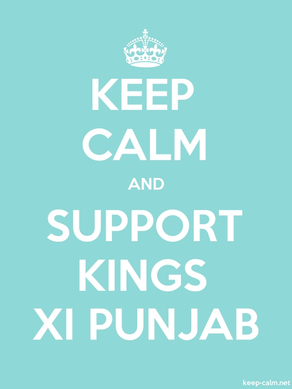 KEEP CALM AND SUPPORT KINGS XI PUNJAB - white/lightblue - Default (600x800)