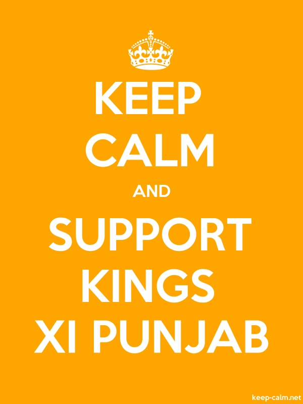 KEEP CALM AND SUPPORT KINGS XI PUNJAB - white/orange - Default (600x800)