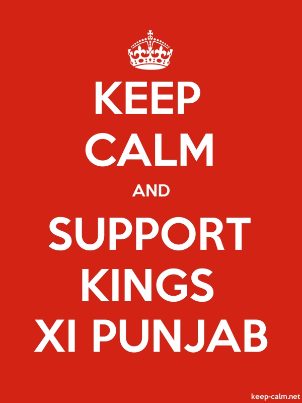 KEEP CALM AND SUPPORT KINGS XI PUNJAB - white/red - Default (600x800)