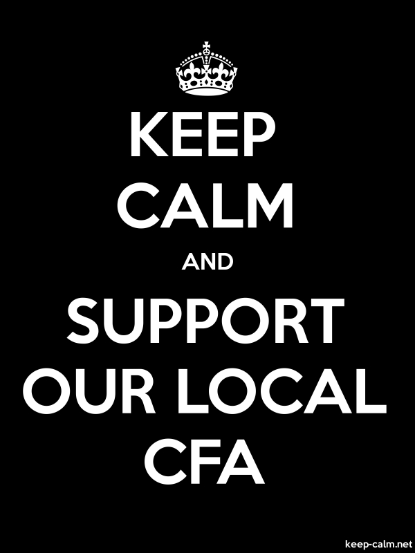 KEEP CALM AND SUPPORT OUR LOCAL CFA - white/black - Default (600x800)