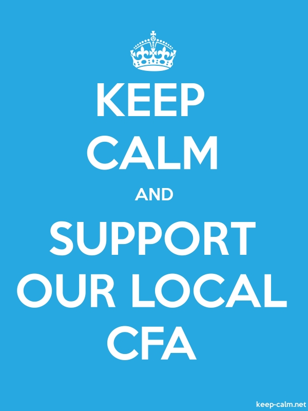 KEEP CALM AND SUPPORT OUR LOCAL CFA - white/blue - Default (600x800)