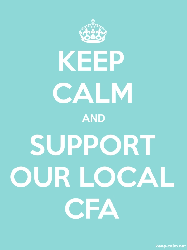 KEEP CALM AND SUPPORT OUR LOCAL CFA - white/lightblue - Default (600x800)