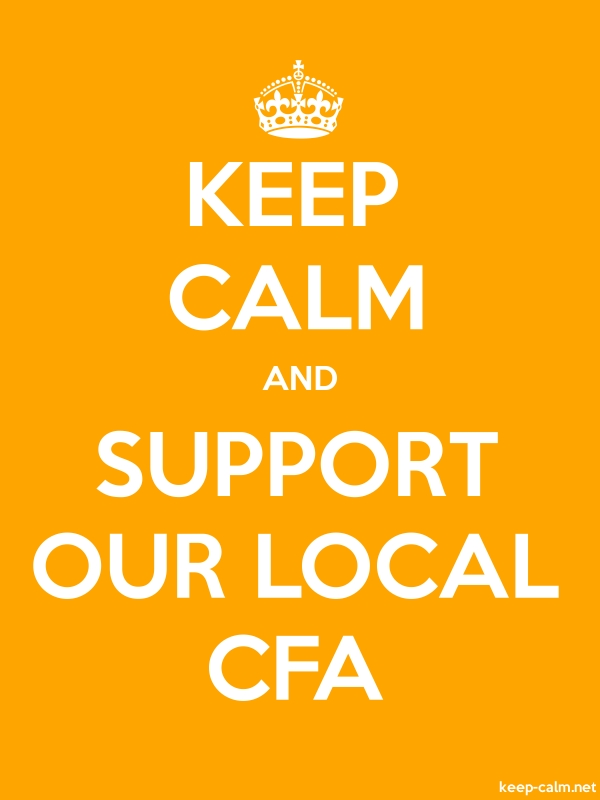 KEEP CALM AND SUPPORT OUR LOCAL CFA - white/orange - Default (600x800)
