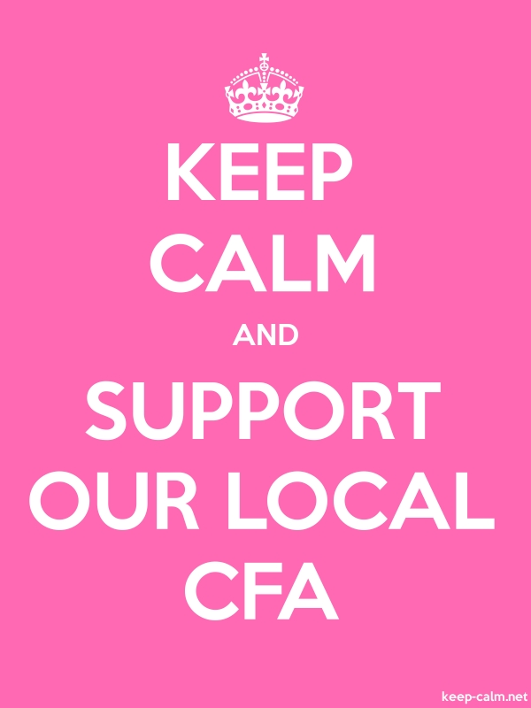 KEEP CALM AND SUPPORT OUR LOCAL CFA - white/pink - Default (600x800)