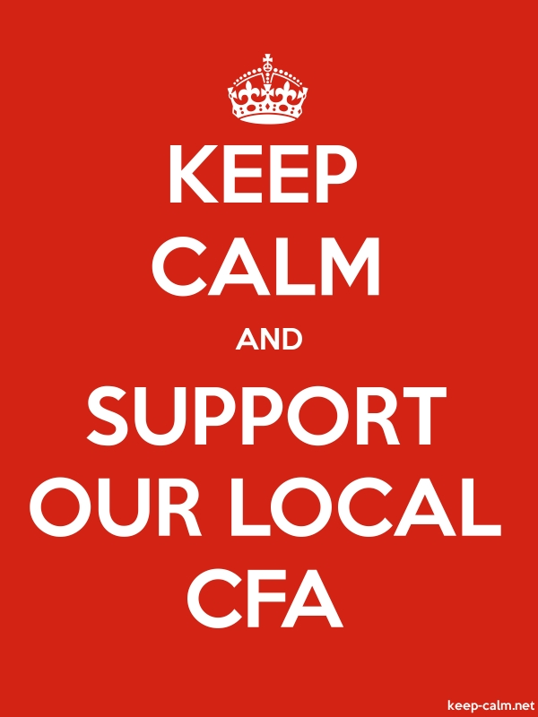 KEEP CALM AND SUPPORT OUR LOCAL CFA - white/red - Default (600x800)